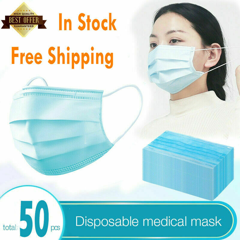 50pcs disposable masks surgical face