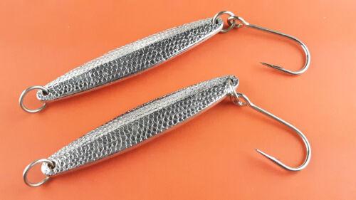 +extra/'s 2pk Hammered Diamond Jigs 5oz SILVER 6//0 Hook Saltwater Jigging Lures