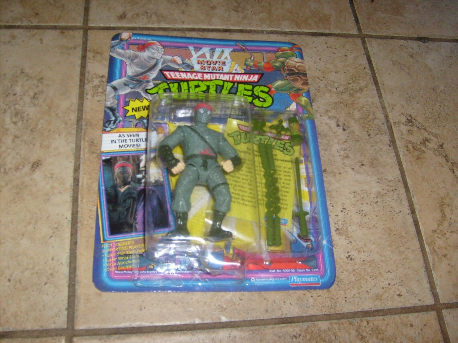 RARE VINTAGE TMNT MOVIE estrella TURTLES  FOOT CLAN NINJA SOLIDER cifra nuovo MOSC  più sconto