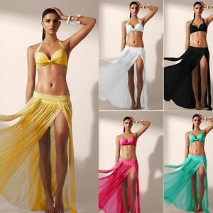 85c4fffe39 Sheer Soft Mesh Bikini Swimwear Cover Up Long Maxi Skirt Tube Top ...