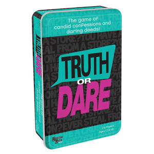 Perfect for Parties Classic Card Game Truth or Dare Game in Tin for Ages 12+