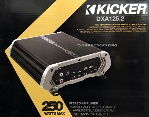 NEW Kicker 41DXA125.2 DX-Series Class-AB 2-Channel Car Audio Amplifier DXA125.2