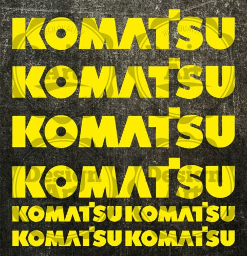 Komatsu L aufkleber sticker bagger excavator 8 Stücke Pieces