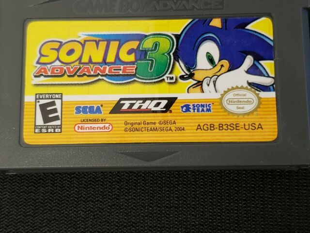 Sonic Advance 3. Nintendo Game Boy Advance. Tested. Fast Shipping!