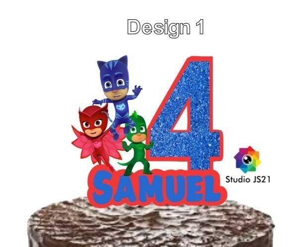 PJ Masks Cupcake Toppers Set Of 12 Birthday Party Cake Cupcake Decorations