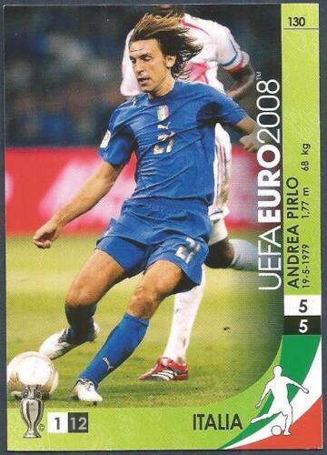 PANINI UEFA EURO 2008 TRADING CARD #130-ITALIA-ITALY-ANDREA PIRLO