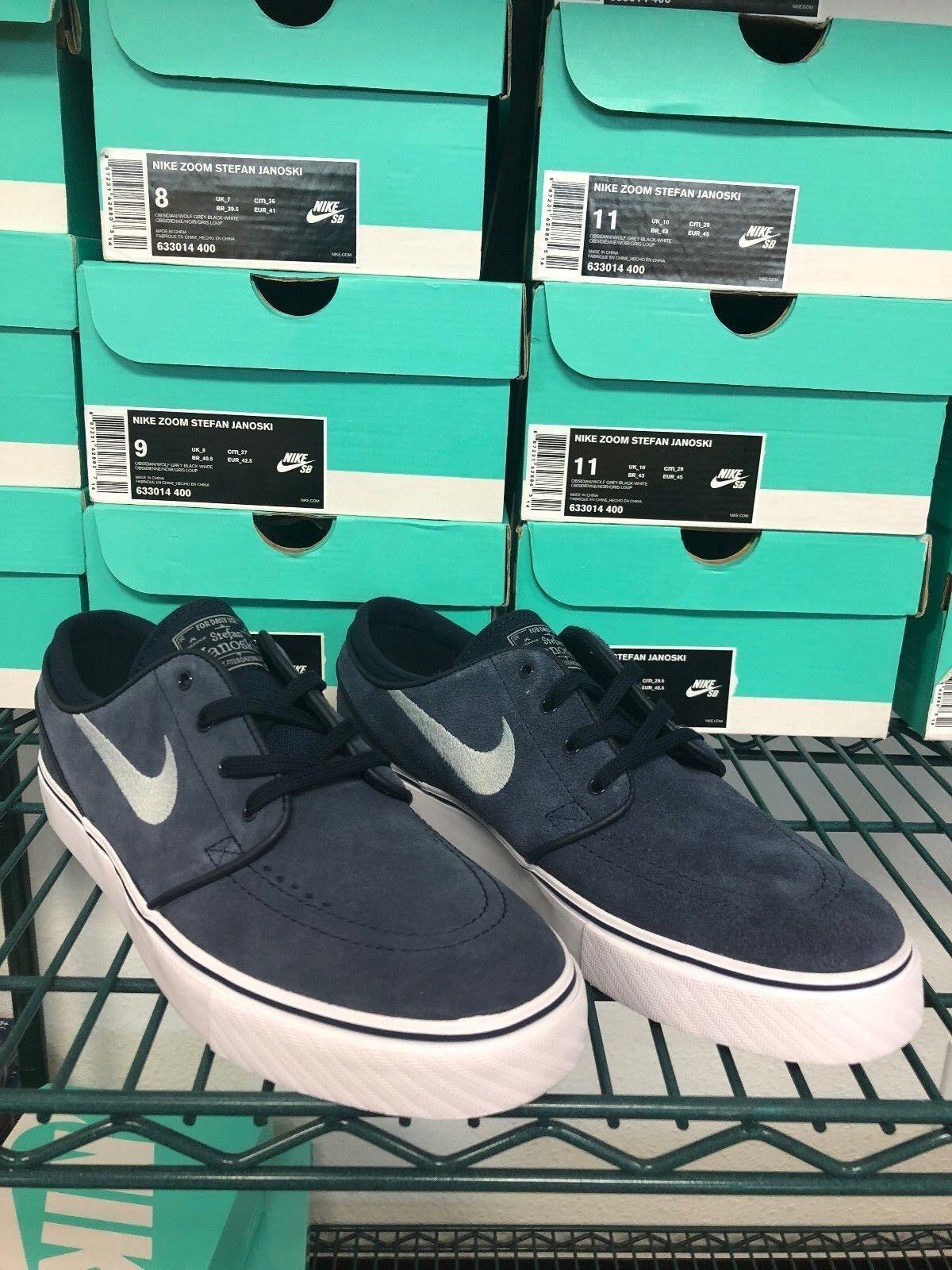 Nike SB Stefan Janoski Obsidian Navy bluee Suede 7 8 8.5 9 10.5 11 HT max low mid