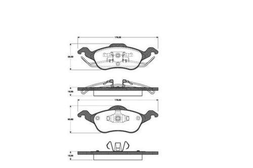 4x Bremsbeläge Bremsbelagsatz Klötze Vorne für Ford Focus Turnier Stufenheck