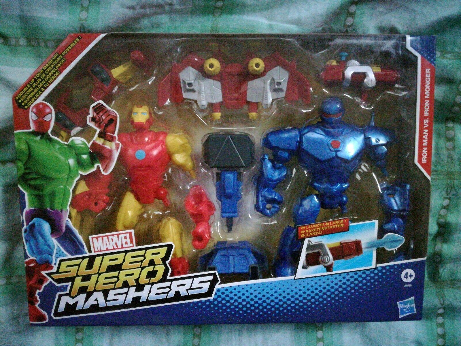 IRON MAN vs IRON MONGER Super Hero MASHERS Neu OVP Ungeöffnet