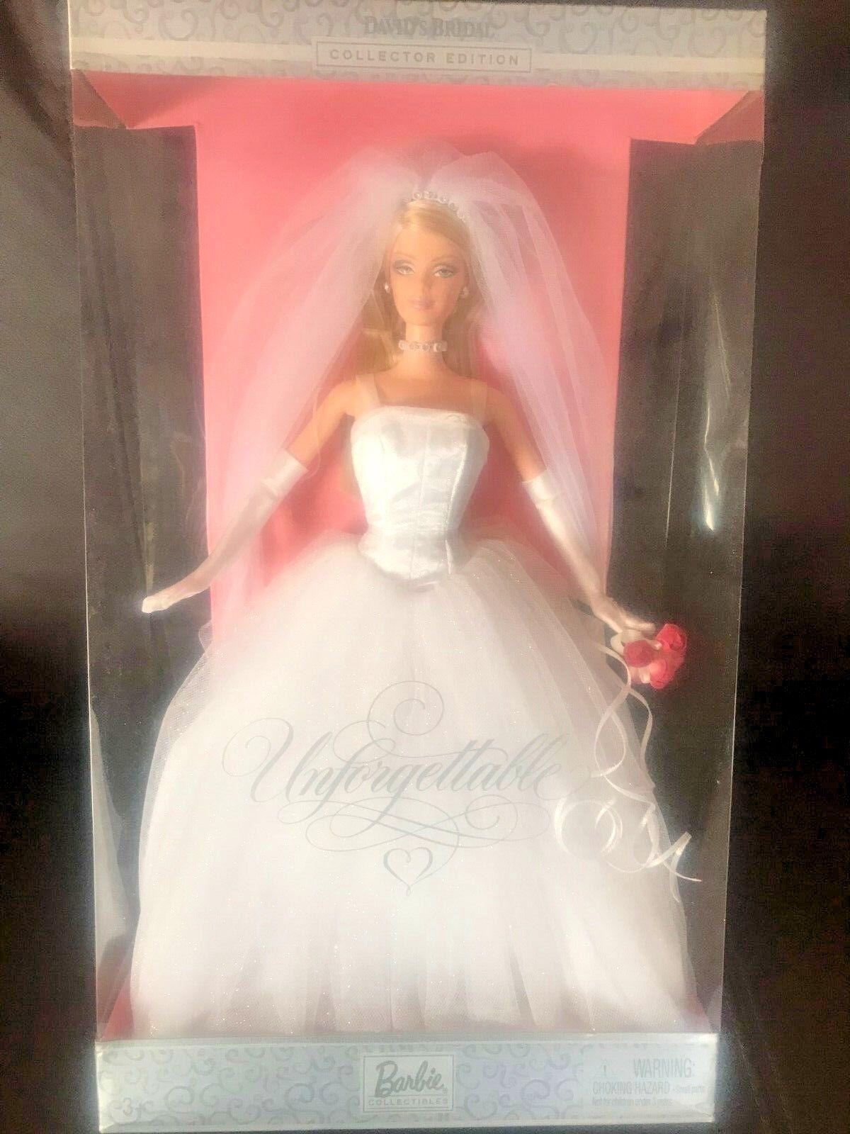 David's  Sposa Unforgettable Barbie - Nuovo & Sigillato, Vista Foto  Ritorno di 10 giorni