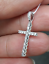 Deal-0-25-CTW-ROUND-DIAMOND-CLUSTER-CROSS-PENDANT-CHARM-IN-14K-GOLD-22-MM thumbnail 2