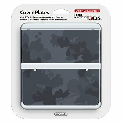 New Nintendo 3DS Kisekae Cover Plate No.045 Mario camouflage gray Japan F/S