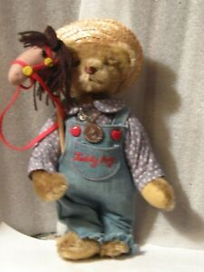 artist-10-034-Gorham-1986-time-machine-Teddy-Boy-stick-horse-plays-music-PRISTINE