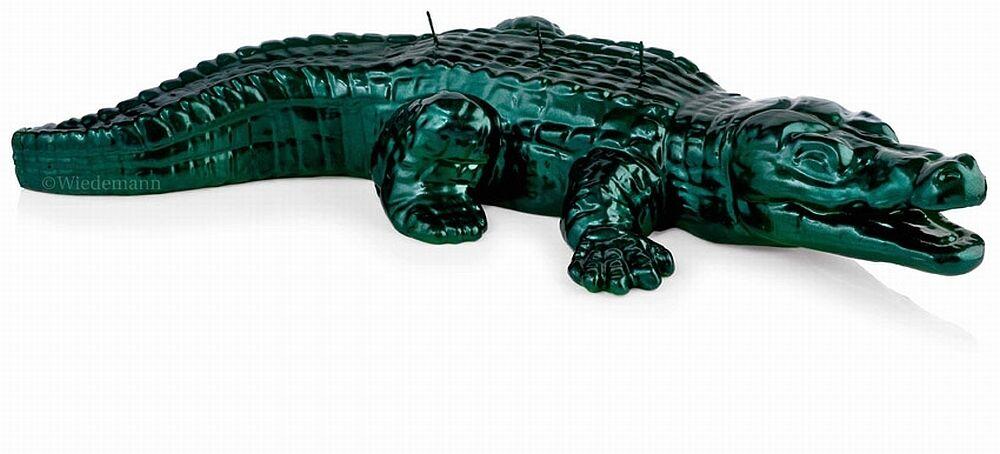 Luxus Design Kerze Krokodil 73cm 73cm 73cm Länge Smaragdgrün Handarbeit Kerzen Wiedemann | New Product 2019  8827ed