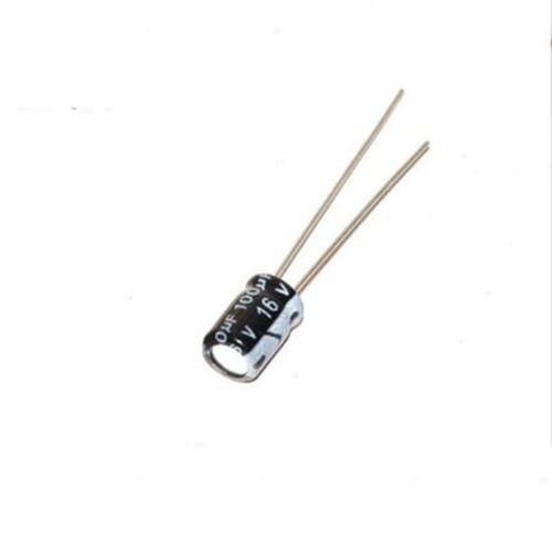100PCS 16V 100uF 16Volt 100MFD Electrolytic Capacitor 5×7 Radial