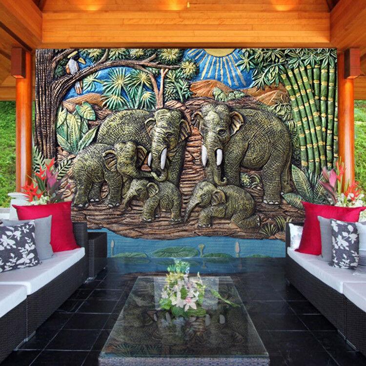 3D Garten Elefant 89 Tapete Wandgemälde Tapete Tapeten Bild Familie Familie Familie DE | Hochwertige Produkte  ecfd73