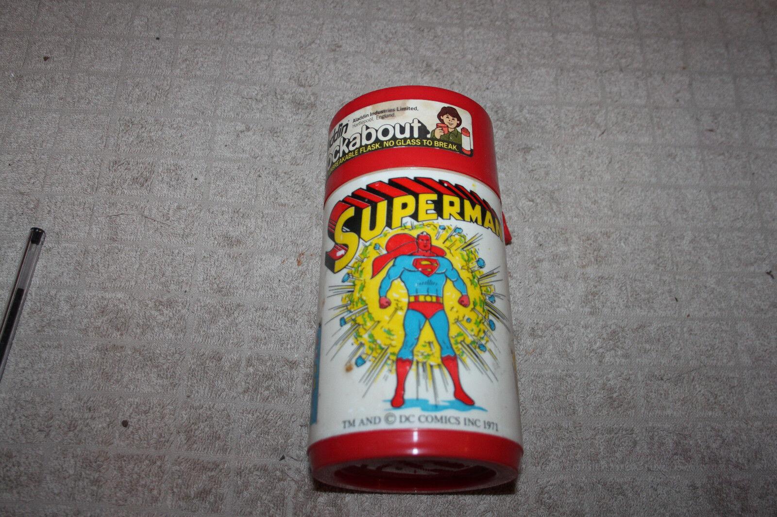 rare THERMOS collection    SUPERMAN de 1971   ENGLAND TM AND cDC COMICS INC