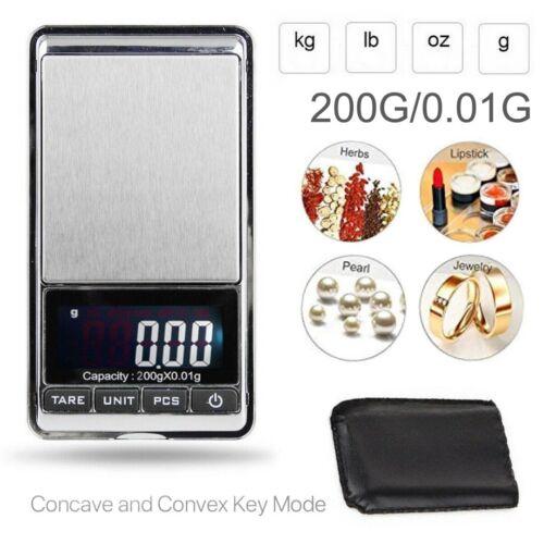 Mini 0.01g-200g électronique de Précision Numérique LCD Balance bijoux FR