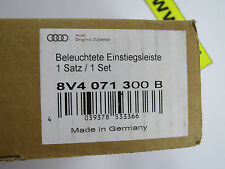 2x original Audi A3 A4 Einstiegsleisten beleuchtet quattro Schriftzug 8V4071300B