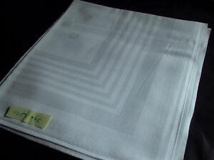 Mako Damast Tafeltuch Tischdecke Weiß Punkte U.a üPpiges Design 3 125x145cm Topzustand