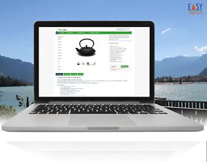 Vorlage 2019 Auktion Easy-Template Design grün mit HTTPS inkl free Editor