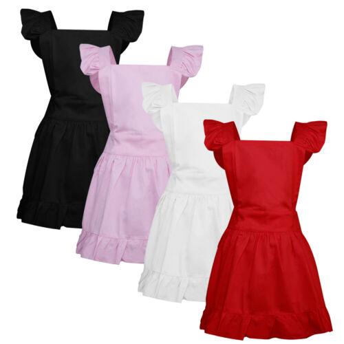 Aspire Vintage Maid Apron Women Kitchen Retro Cotton Frilly Apron Costume Party