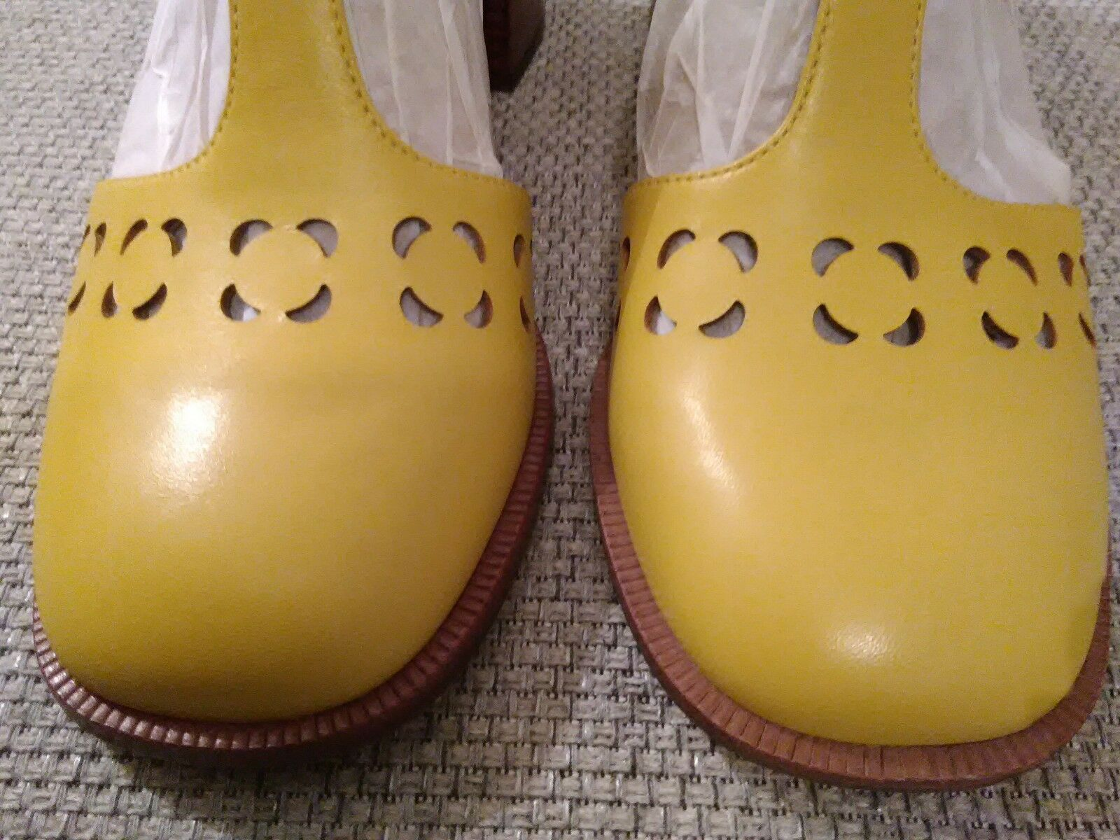 Orla Kiely Clarks Zapatos, Bibi, en en en amarillo, Uk Talla 8, EUR 42, US 10.5, Retro  distribución global