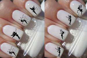 Disney Tinker Bell Silhouette Nail Art Decals Stickers Water