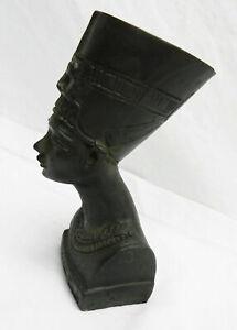 Vintage-Egyptian-1970-039-s-Nefertiti-Black-Soapstone-Collectable-Figurine-24-99