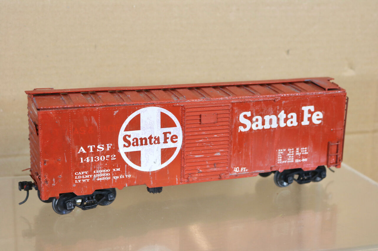 All Nation Vintage Kit Costruito o Scala Santa Fe At&sf Carro Merci Vagone