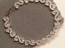 2 Carat Diamond 14k White Gold S Link Tennis Bracelet