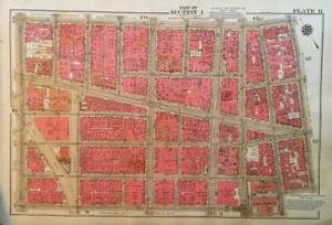 Details about 1934 LOWER EAST SIDE CHINATOWN MANHATTAN BRIDGE NY ATLAS MAP
