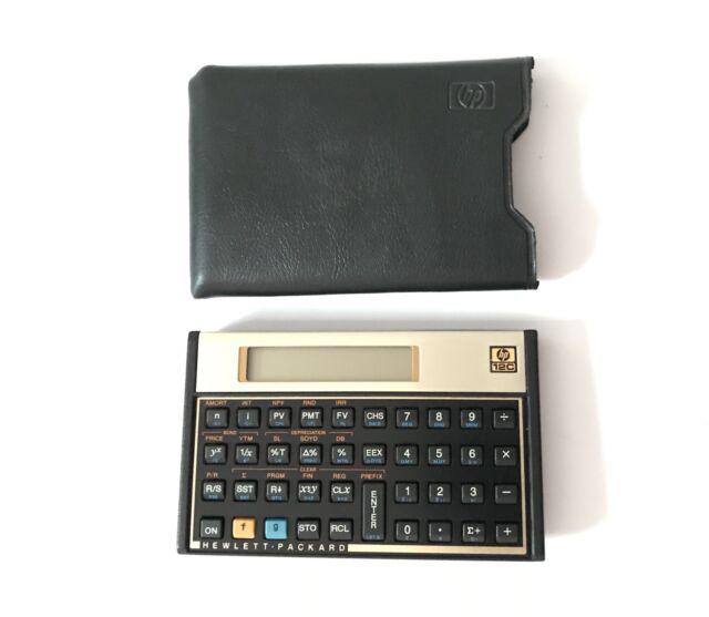 Vintage Original HP 12C Financial Calculator w/ Case Cover Working HP12C