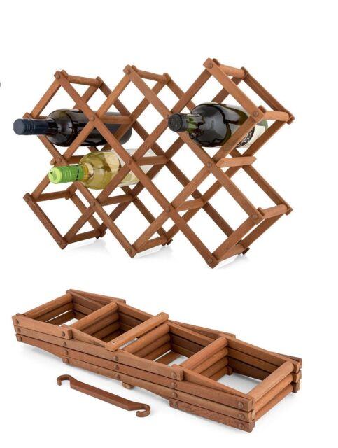 The Xpanda Harwood Timber 10 Bottle Expandable Storage Wine Rack
