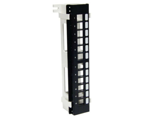 12 Port Blank Vertical High Density Patch Panel Wall-Mount w//Bracket PP3-474//12V