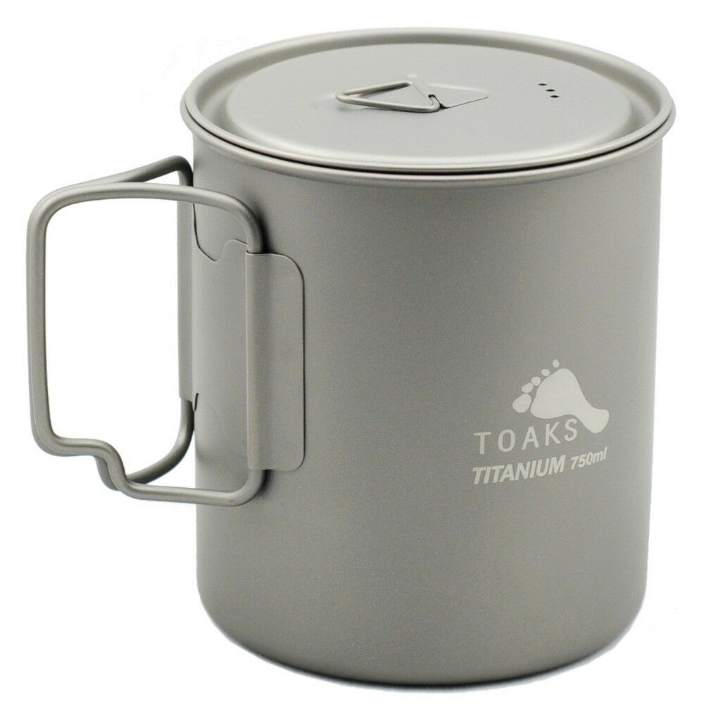 TOAKS Titanium Pot Mug for Outdoor Hiking Camping Picnic