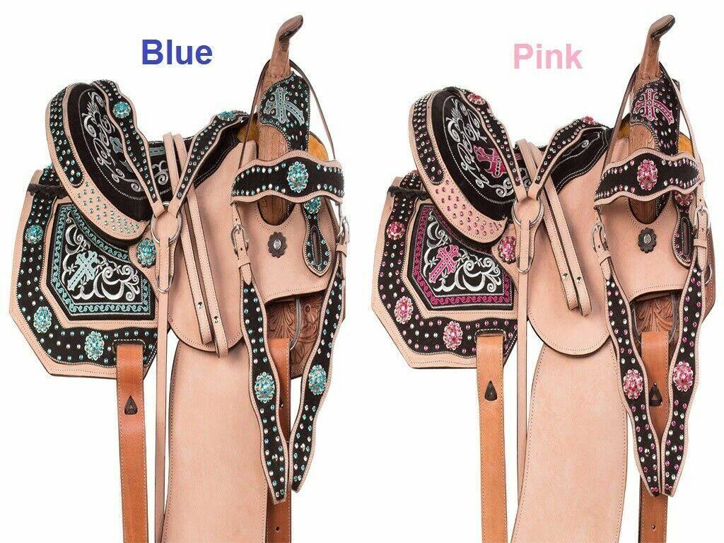 Nuevo barril Racing Premium occidental de Cuero Tachuela del caballo Tamaño 14  a 18  envío gratuito.