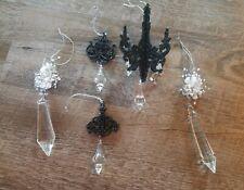 "3551012 RAZ Set//2 7/"" Clear Crystal Beaded Drop Pendant Christmas Tree Ornament"
