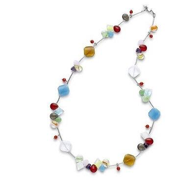 LEONARDO Schmuck Halskette 10944 colours blau rot gelb grün bunt L=74 cm