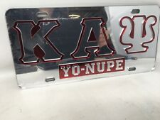 """KAPPA ALPHA PSI Rocker Patch - Red Letters 13 1//4/"""" x 5/"""" White Outline"""