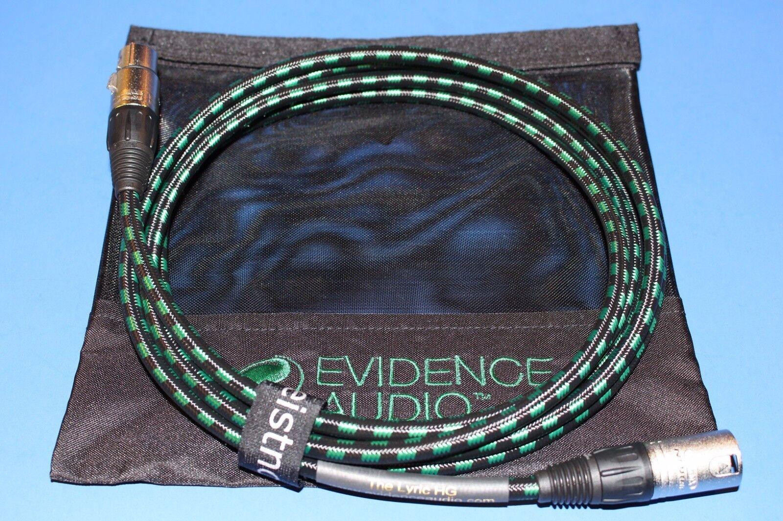 15'XLR Mikrofonkabel  EA Lyric HG 15 Fuß Gold oder Nickel XLRs  FREE BAG