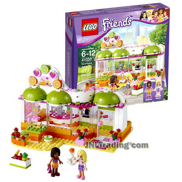 NEW 2014 LEGO Friends Series Set  41035 HEARTLAKE JUICE BAR Andrea & Naya Figure