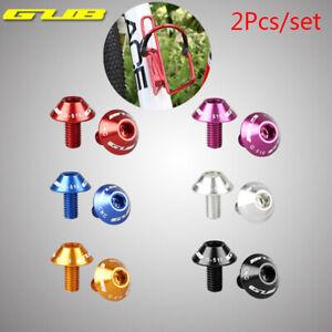 GUB 2Pcs M5x10mm Bike Bicycle Water Bottle Cage Bolt Holder Screw Aluminum Alloy