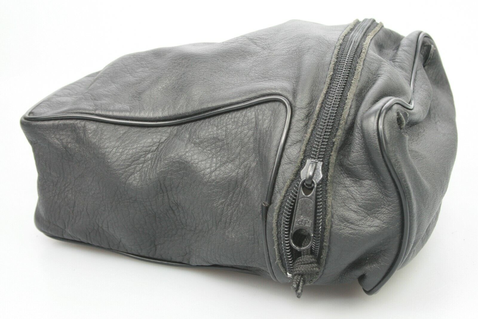 Original Benser Large TELE LEICA M soft CAMERA POUCH CASE Real Leather ZIP BAG