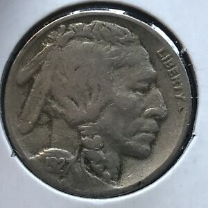 USA-1927-S-Buffalo-Nickel-5-Cent-San-Francisco-Selten-12666