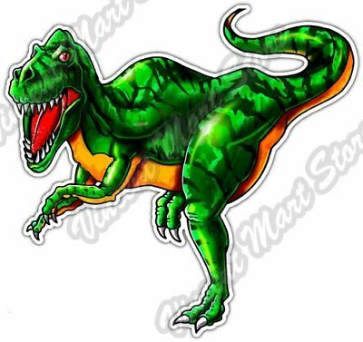 "Velociraptor Dinosaur Reptile T-Rex Beast Car Bumper Vinyl Sticker Decal 4.6/"""