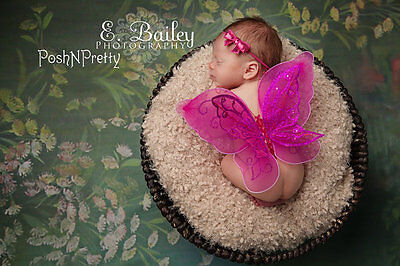 Fairy Glitter Butterfly Wings, Newborn, Baby, Photography prop CHOOSE Colors