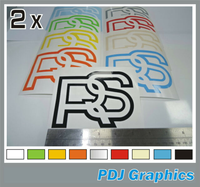 2 x Ford RS Classic Vinyl Stickers Decals Escort Mexico RS2000 Old School Cool