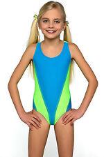 Qrh Big Girls Swim Sunsuit One Piece Swimwear Blue 8 9 Ebay