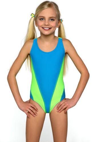 New One Piece Girls Sport Swimming Costume Swimwear Swimsuit Age 8 9 10 11 12 13